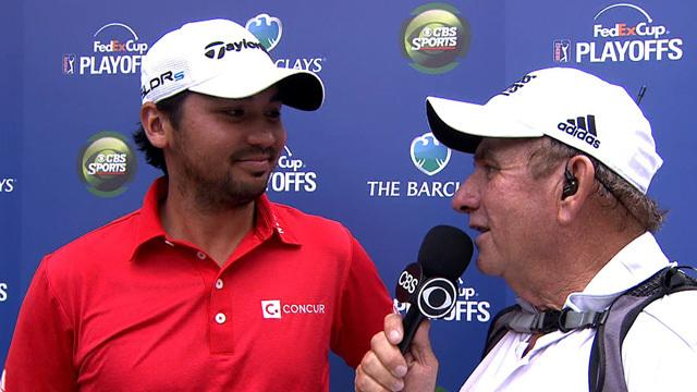 Day on performance in the third round of The Barclays