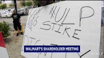 Protests at Wal-Mart shareholder meeting