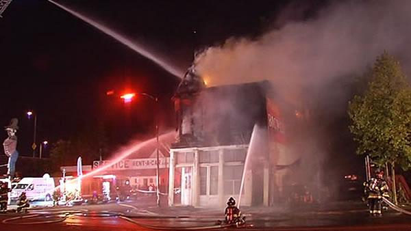Large fire damages historic San Jose building