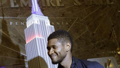 Usher Lights Empire State Building for July 4th