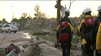 Search teams begin 2nd pass in search of damaged homes, looking for buried survivors