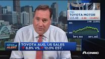 Toyota Aug. US sales down 8.8%, better-than-expected