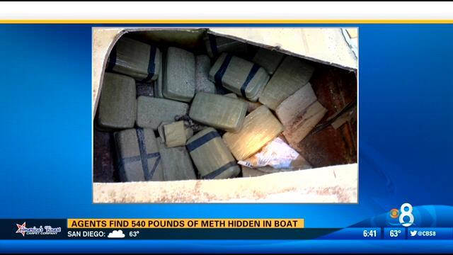 Agents find 540 pounds of meth hidden in boat