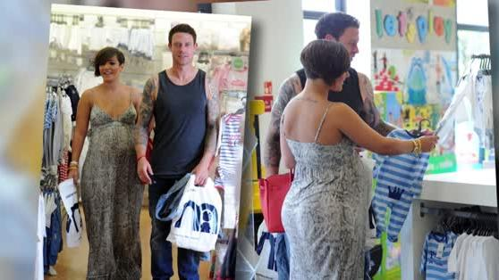 Parents-To-Be Frankie Sandford and Wayne Bridge Browse Blue Baby Clothes