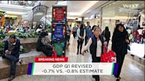 GDP turns negative in Q1; Game Stop's high score; Amazon's food line