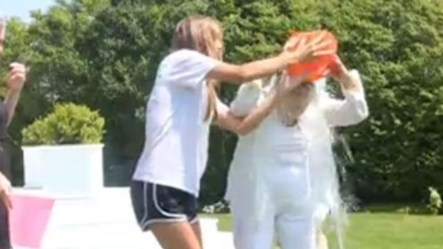 Ethel Kennedy Nominates Obama in Ice Bucket Challenge