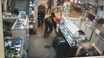 Samurai Sword-Wielding Suspect Attacks Store Employee