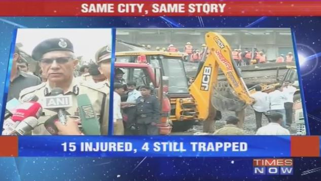 1 killed, 15 injured in Building Collapse