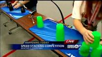 Kids show off speed-stacking skills