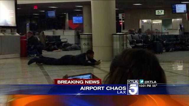 Travelers Panic After Report of Shots Fired at LAX