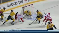 Justin Abdelkader goes top-shelf on odd angle