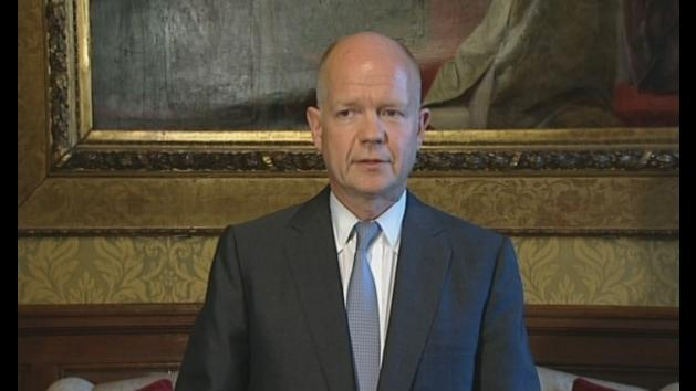 Hague: Time for UN to act on Syria