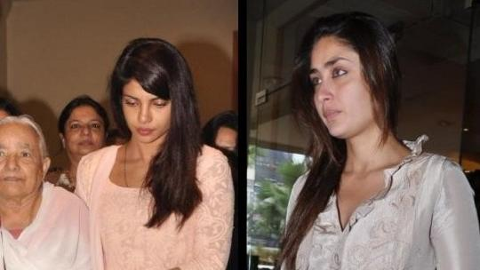 Kareena Attends Priyanka's Fathers Prayer Meet, SRK Missing