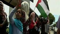 Raw: Israel, Palestine Supporters Rally in US