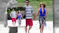 Alyssa Milano Looks Amazing in Blue Monokini