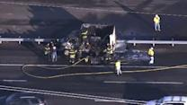 NJTP reopens following truck fire in East Windsor Twp.