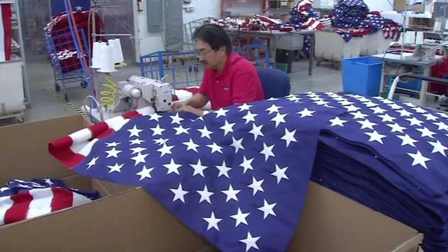 North Bay flag maker helps ensure flags for military are made in the USA
