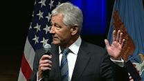 New Secretary of Defense Chuck Hagel Addresses Pentagon