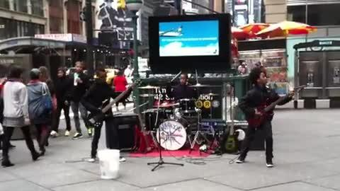 Awesome 11-Year-Olds Play Metal Music In NYC!