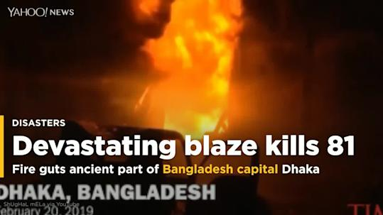 Fire guts oldest part of Bangladeshi capital, killing dozens