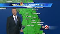 Possible tropical depression to make landfall by Thursday night