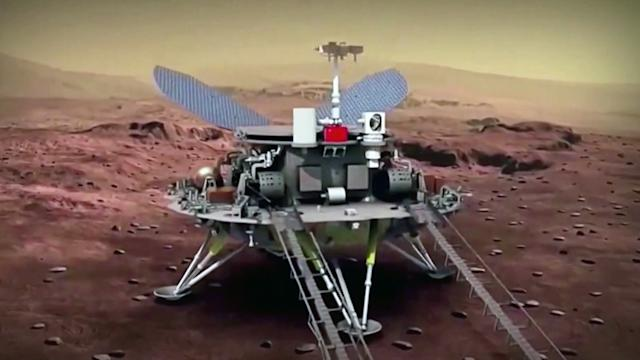 China becomes only second nation in history to land a rover on Mars