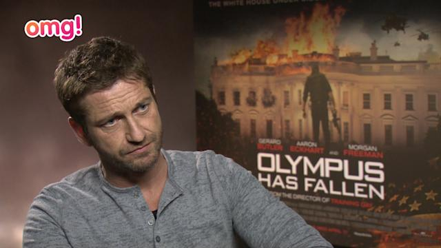 Gerard Butler's up for a scrap in his latest movie