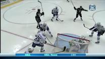 Dustin Brown backhands home a loose puck