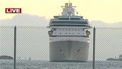 Cruise Ship Rescues 6 Floating On Raft