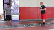 Soccer Speed: Ladder Lunge Drop