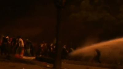 Raw: Water Cannon Fired at Turkish Protesters