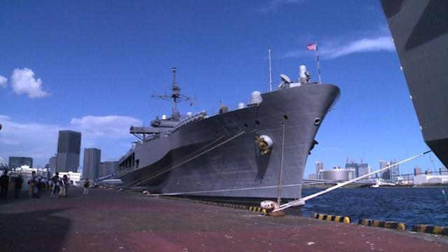 Japanese and US navies showcase warships in Tokyo