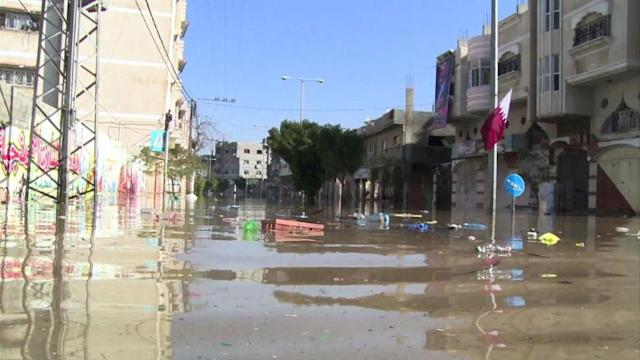 Floods in Gaza put young and elderly at risk