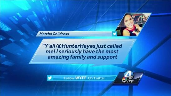Hunter Hayes calls USC student hit by stray bullet