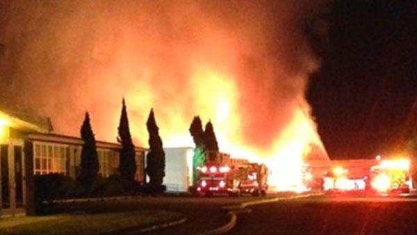 Suspicious fire burns school offices in San Leandro