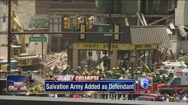 Salvation Army to be named in Center City collapse lawsuits