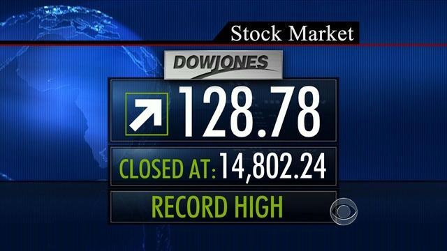 Surging stock market smashes records
