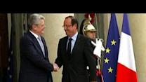 France's Hollande meets German president Gauck