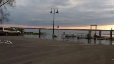 Raw Video: Flood Waters Over Plattsburgh Basin
