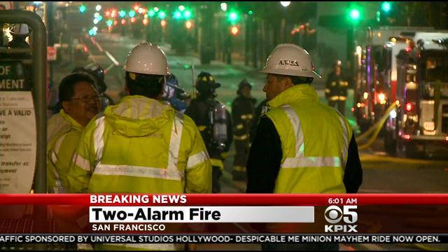 San Francisco Firefighters Knock Out Two-Alarm Blaze At Bay View Dry Cleaner