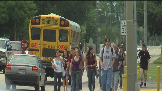 Pinellas County students head out for the first day of the 2013-2014 school year
