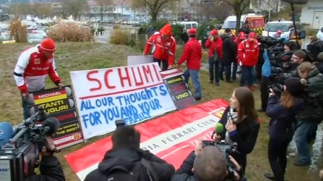 Schumacher's fans gather outside hospital to wish him Happy Birthday