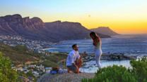 Drone Captures Breathtaking Sunset Proposal on Cape Town Hilltop