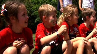 Support, fun for kids of fallen soldiers at camp