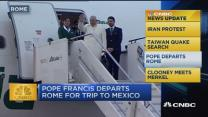 CNBC update: Pope Francis departs Rome