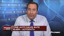 June auto sales rate 16.66M: Autodata
