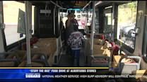 """""""Stuff The Bus"""" food drive at Albertsons stores"""