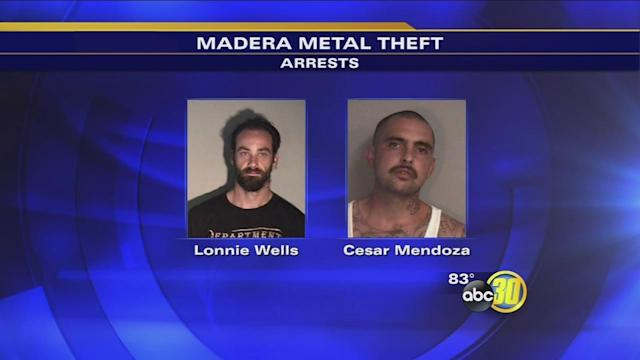 Madera recyclers turn in metal thieves