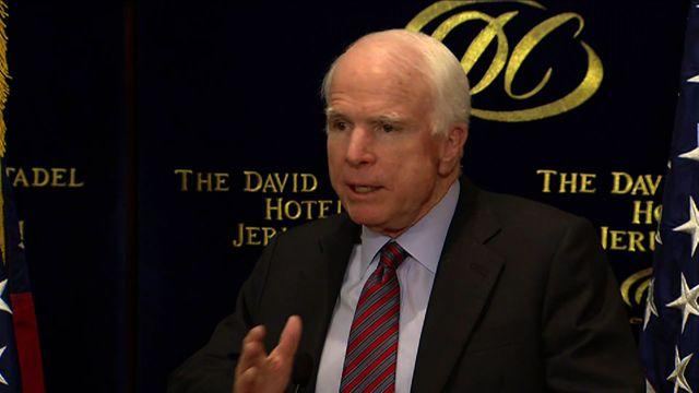 "McCain: ""We don't understand"" Obama's position on Iran sanctions"