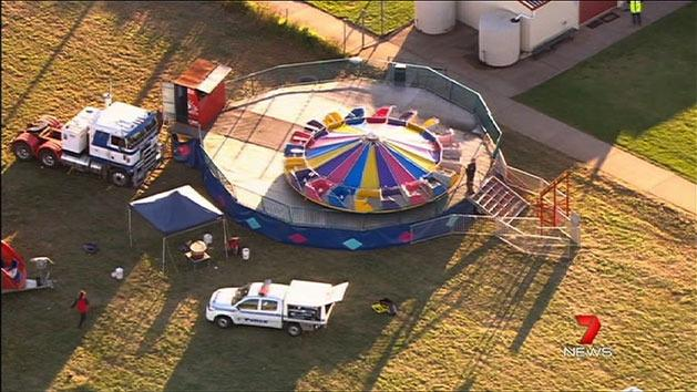 Boy critical after fete ride fall